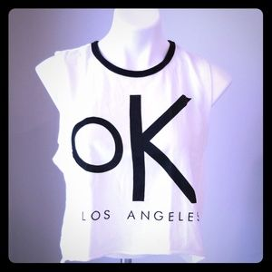 'OK' Sleeveless Crop Top